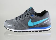 Nike Air Waffle Trainer Leather (dark grey / gamma blue - anthracite - prize blue)