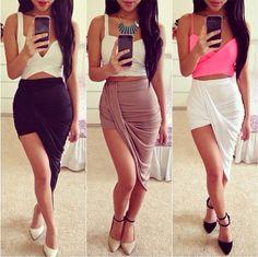 WRAP Banded Draped Cut Out Hi Low Asymmetrical High Waist Open Maxi Skirt #New #Asymmetrical