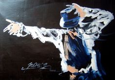 free shipping handmade modern abstract Michael Jackson dance picture oil painting on canvas wall art for home decoration
