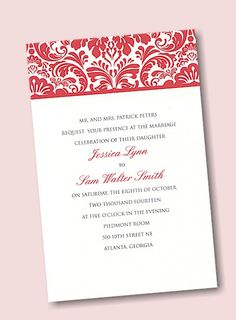 Create Your Own Wedding Invitation Suite 21