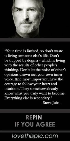 Your Time is Limited  quotes quote positive inspirational inspirational quote steve jobs