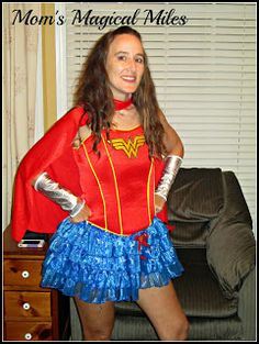 Mom's Magical Miles: Workout Wednesday: My Wine & Dine Costume! #WonderWoman #CountriesOfEpcot