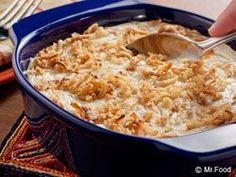 Potato and Onion Casserole - Makes a great potluck side dish! #Dinner #Recipe