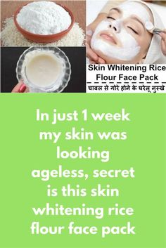In just 1 week my skin was looking ageless, secret is this skin whitening rice flour face pack In this post I will share one simple scrub, this pack will not only remove dead skin layer but it will also make your skin fairer and will also remove all aging signs from your skin To prepare this you will need Rice Flour Maida (All purpose flour) Raw milk Preparation In a clean bowl …