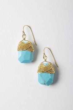 Dazzled Turquoise Drops #anthropologie