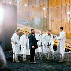 Stanley Kubrick and cast members / rehearsing (the actors wear ...