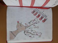 December Setup #bulletjournal #bujo #setup #december #christmas #doodle