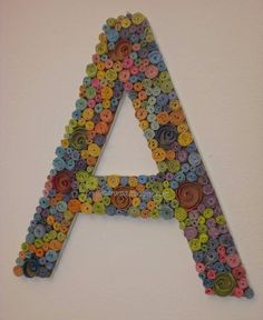 recycled magazine crafts | monogram with recycled magazine paper and cardboard | Craft Ideas