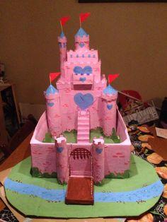 Front of cardboard castle