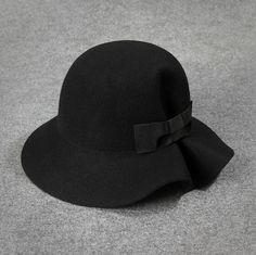 Women Cloches Wool Felt Bowler Hats Cute Bowknot Bucket Caps Ruffles Top Hats Winter Sunhat Headwear From Jessiebee, $13.44 | Dhgate.Com