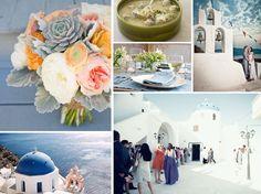 {santorini} blue and white destination wedding in Santorini, Greece, with Greek wedding soup