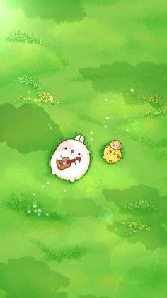 Wallpapers Kawaii, Kawaii Wallpaper, Cute Cartoon Wallpapers, Animes Wallpapers, Cute Kawaii Drawings, Cute Animal Drawings, Kawaii Art, Bear Wallpaper, Iphone Background Wallpaper