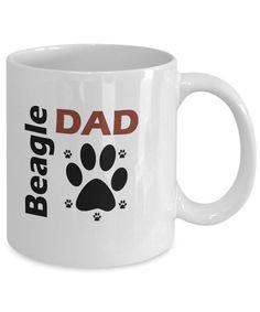 Beagle Mug. 11oz Or 15oz Ceramic Beagle Coffee Mug. BEAGLE DAD Mug. Perfect  Beagle Lover Gift For Father, Son, Husband Or Brother