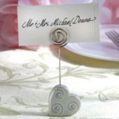 Heart Place Card Holder Wedding Favor - Party City