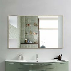 Modern Aluminum Alloy Thin Framed Full Length Floor Mirror - On Sale - Overstock - 30393628 - 71x31x1 - Gold Full Length Floor Mirror, Full Mirror, Large Bathroom Mirrors, Gold Bathroom, Bathroom Ideas, Mirror Shapes, Wall Mounted Mirror, Large Furniture, Home Decor Outlet
