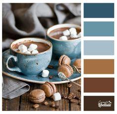 Chocolat chaud et macarons
