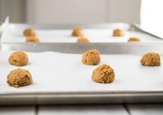These Grain Free Ginger Cookies are nut free, and made with paleo friendly tapioca flour, and coconut flour. They are crispy on the outside and have a chewy, toffee-like center.