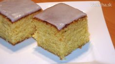 Citrónový koláč s polevou (videorecept) Czech Recipes, Ethnic Recipes, Cornbread, Vanilla Cake, Cooker, Deserts, Food, Hampers, Lemon