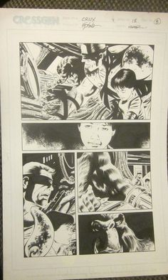 Original Comic Book Artwork CRUX  issue 18 Page 8 Steve Epting  DETAILED