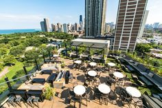 ChicagoWith sweeping views of Lake Michigan and the sun setting over Chicago's skyline, J. Parker features an indoor lounge and outdoor patio where a DJ spins on Saturdays.On the Menu: Summer 2016 signature cocktails include the Ziggy Stardust, with peligroso blanco, aperol, cucumber lime, and spicy salt, to honor David Bowie's passing. J. Parker's small plate menu, curated by James Beard-nominated Chef Paul Virant, features gems like House Smoked Salmon Cakes and the J. Parker Patty Melt.