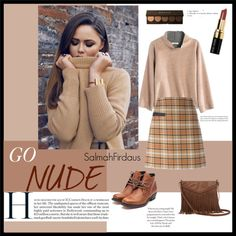 GO NUDE . Different shades of nude by salmahfirdaus on Polyvore featuring polyvore, fashion, style, Madewell, Tory Burch, Rupert Sanderson, T-shirt & Jeans, Becca and Bobbi Brown Cosmetics