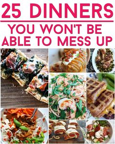 25 Dinners That Are Basically Impossible To Mess Up! It's time to break up with your microwave. Great recipes that are so easy to make! I Love Food, Good Food, Worst Cooks, Cooking Recipes, Healthy Recipes, Easy Recipes, Clean Recipes, Easy Cooking, Quick Meals