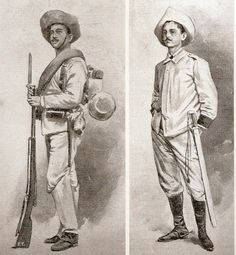 Cuba, Filipino Fashion, The Spanish American War, Spanish Colonial, Learning Spanish, Military History, Troops, Africa, Fashion Styles
