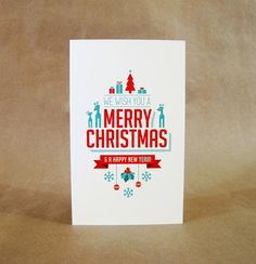 We wish you a merry Christmas modern card inspiration