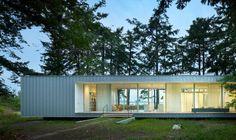 North Beach Cabin, Orcas Island, Washington, USA by Heliotrope Architects.