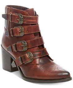 6e36ac70f19 Steve Madden Women s Prairie Western Block-Heel Booties