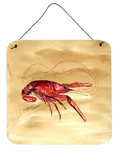 Crawfish Aluminium Metal Wall or Door Hanging Prints