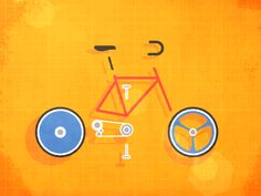 Bike Assembly designed by Fraser Davidson for Cub Studio. Gifs, Bike Icon, Cool Animations, Painting Videos, Flat Illustration, Cute Gif, Motion Design, Motion Graphics, Typography Design