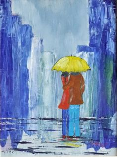 DIMANCHE SOUS LA PLUIE A GENEVE Les Oeuvres, Painting, Art, In The Rain, Sunday, Art Background, Painting Art, Kunst, Paintings