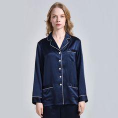 Ladies Silk Nightshirt Top Nightwear with Skin Care – OOSilk – Top Trends Silk Sleepwear, Silk Pajamas, Nightwear, Denim Button Up, Button Up Shirts, Silk Chemise, Mulberry Silk, Night Gown, Mantel