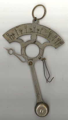Cross Pen Co antique letter scale pocket balance desk vintage accessory