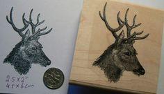 Deer rubber stamp  P49C door dragonflybuzz op Etsy https://www.etsy.com/nl/listing/179109635/deer-rubber-stamp-p49c
