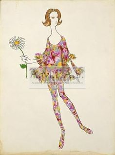 ON A CLEAR DAY YOU CAN SEE FOREVER | costume design drawing(s) | Scaasi, Arnold | Streisand, Barbra