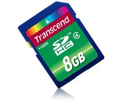$7.99 3/27/2012 Only. Transcend 8GB SDHC Card Class 4 Compliant With Write Protection Switch