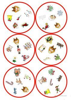 Spiele im Deutschunterricht: Dobble - Weihnachten (31 Karten / 6 Symbole)
