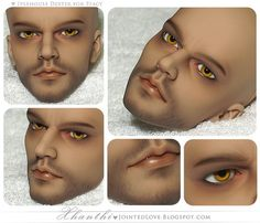 face up - I would think it would be very difficult to make whiskers!