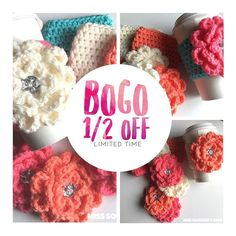 Bogo 1/2 off for a VERY limited time!!  — Sometimes it's hard to buy for others because you want to keep it for yourself! 😝 Don't worry- for a LIMITED TIME you can buy one Spring Bling Drink Cozy and get the second for HALF OFF!! . . Don't miss it!! 🌺 ✨All links in profile✨ (This discounted listing cannot be combined with additional coupon codes. )