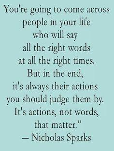 Actions vs Words