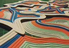 Laberinto / Handmade paper art @arte.minerva