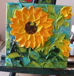 Sunflower Impasto Oil