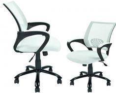 White Ergonomic Mesh Computer Office Desk Task Chair w/Metal Base H12 sets of 2