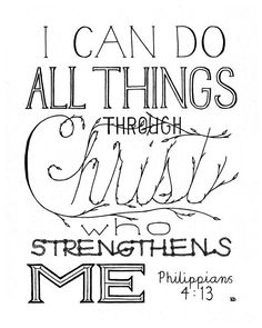 I Can Do Bible Verse Quote Bible Verse Print by CornerChair, $10.00+