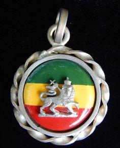 Vintage Lion of Judah Ethiopia Sterling Silver Pendant - Visit my Etsy shop: www.etsy.com/shop/AyQueBella