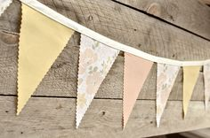 Wonderful - Vintage Bunting Banner with 12 Flags. $25.00, via Etsy.