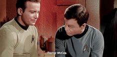 the peace you seek Star Wars, Star Trek Tos, Leonard Mccoy, Laugh Track, Enterprise Ncc 1701, Star Trek Original, William Shatner, Movie Gifs, Love Stars