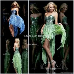 Find More Prom Dresses Information about 2015 Perfect  Asymmetrical Sweetheart Sleeveless Beaded Sequined Ruffles Back Zipper  Floor Length Short Prom Dress 2014,High Quality Prom Dresses from Timeless Love-SFN on Aliexpress.com